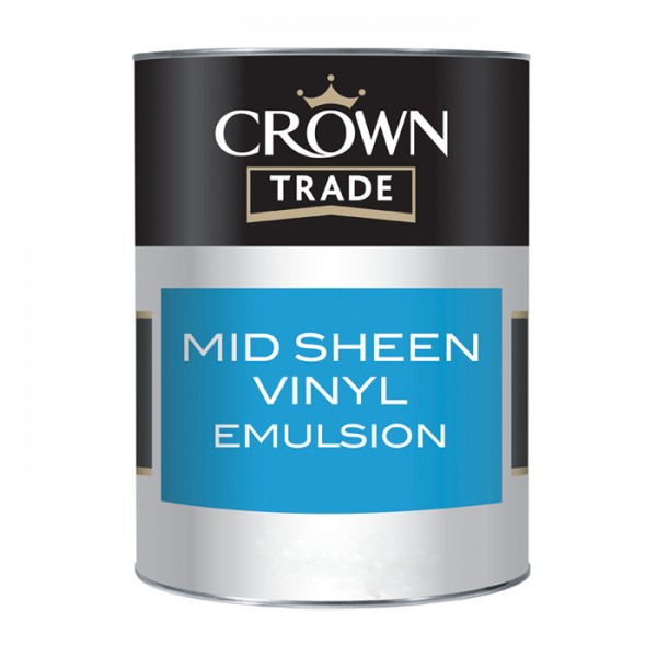 Краска CROWN TRADE MID SHEEN EMULSION BRIL WHITE 5L  5064697